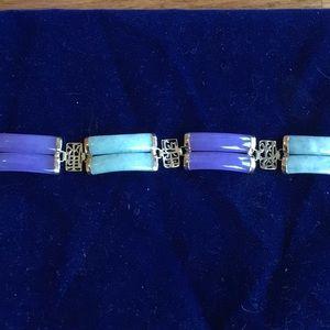 Green and lavender jade Bracelet